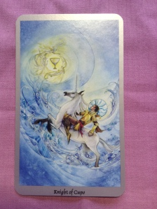 The Knight of Cups from the Shadowscapes Tarot.