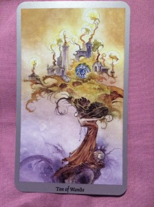 Ten of Wands, from the Shadowscapes deck.
