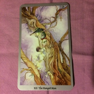 The Hanged Man from Stephanie Law's Shadowscapes tarot.