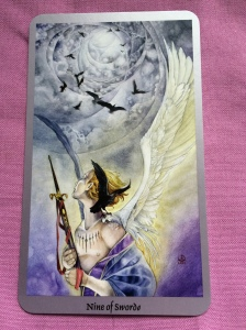 The Nine of Swords from the Shadowscapes Tarot.