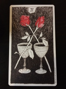 Two of Cups from The Wild Unknown tarot.