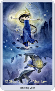 Shadowscapes Tarot, Queen of Cups, Stephanie Pui-Mun Law