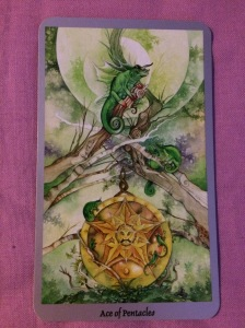 Ace of Pentacles from the Shadowscapes tarot